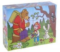 Кубики маша и медведь, 12 штук
