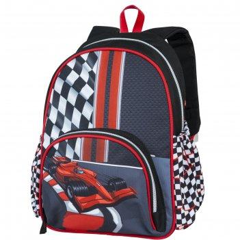 Рюкзак школьный target 35*28*12 мал. формула 1, чёрный/красный