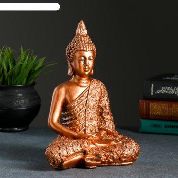 Статуэтка будда малый медь 24х16х10см