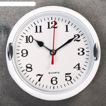 Часы настенные, серия: классика, джессика, белые, d=15 см