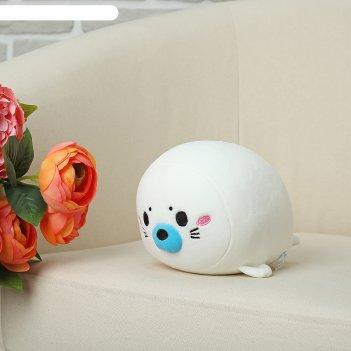 Мягкая игрушка-антистресс нерпа, цвет белый