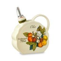 Бутылка для масла «итальянские фрукты», объем 0,55 л, материал: керамика,