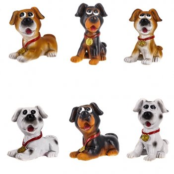 Фигурка декоративная собака, h5.5 см, 6в