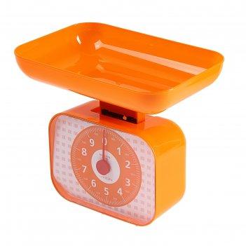Весы кухонные luazon lvkm-1001, механические, до 10 кг, чаша 1200 мл, оран