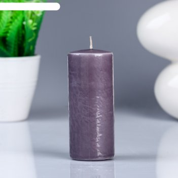 Свеча- цилиндр, парафиновая, дымка, 4x10 см