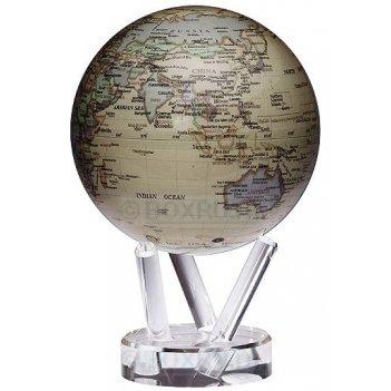Глобус мобиле d16,5 см с  политической картой мира, цвет бежевый