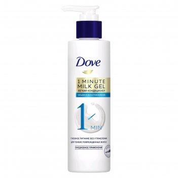 Молочко-гель для волос dove «объём и восстановление», для тонких волос, 18