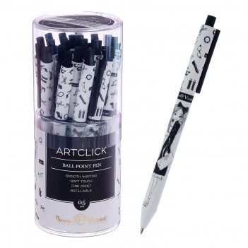 Ручка шариковая artclick «модница», стержень синий 0,5 мм