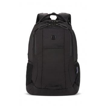Рюкзак swissgear с отделением для ноутбука 15, чёрный, полиэстер, 34 х 16,
