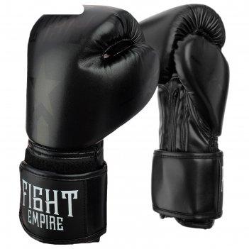 Перчатки боксерские, детские, 6 унций, цвет черный