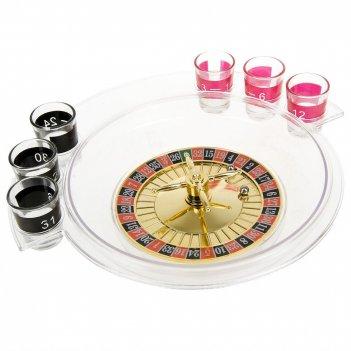 Игра настольная (питейная) рулетка (6стопок) d=30см. h=7см. (п