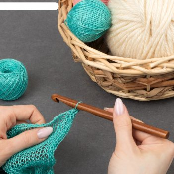 Крючок для вязания бамбуковый, d = 9 мм, 15 см