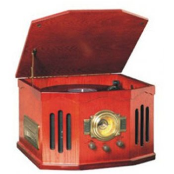 Ретро-проигрыватель nostalgia-ii (cd/mp3/radio am-fm/turnabl