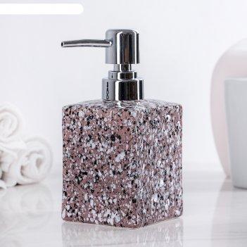 Дозатор для жидкого мыла гранит, цвет коричневый