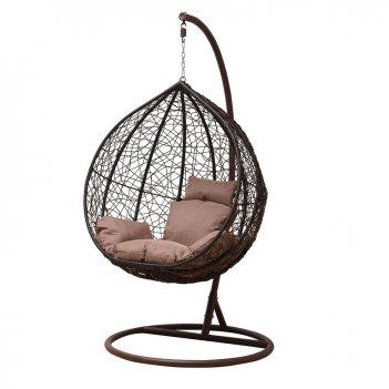 Подвесное кресло уличное gardenini gusto brown, садовая мебель