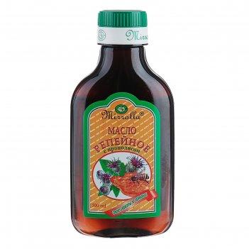 Репейное масло для волос mirrolla с прополисом, 100 мл.