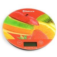 Весы кухонные sa-6076f, 5 кг, электронные, фрукты