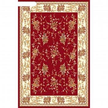 Ковёр бцф пп laguna 5455, 0,8 x 1,5 м, прямоугольный, red