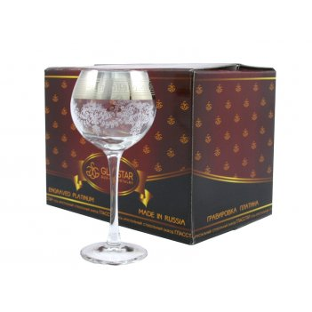 Фужеры для вина gn1688барокко280мл.6пр.