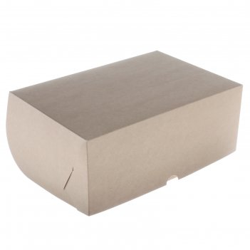 Упаковка на 6 капкейков, без окна, крафт, 25 х 17 х 10 см
