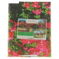 Cетка виниловая (пвх) с фотопечатью каменный забор с розами,  250*158 см