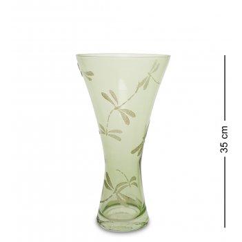 Vz- 70 ваза стеклянная стрекозы 35см (талия)