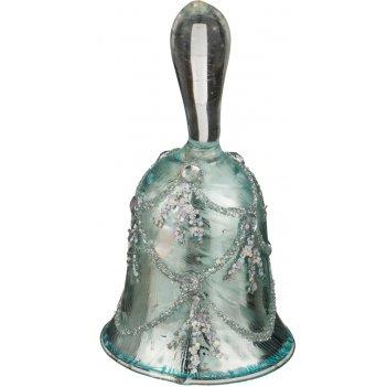 Декоративное изделие колокольчик цвет: серебро 5*9,5 см. (мал=6шт./кор=72ш