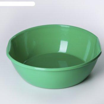 Таз пластмассовый 5 л, цвет микс
