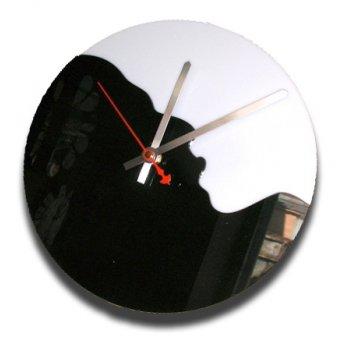 Часы настенные из акрила инь и янь cl195 28х28см