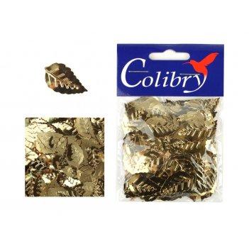 Пайетки фигурные граненые colibry 14х25мм