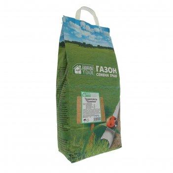 Газонная травосмесь  лужайка 5 кг зеленый уголок