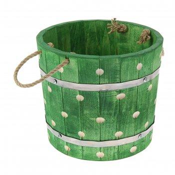 Запарник 8 литров, крашеный резной, цвет еловая зелень