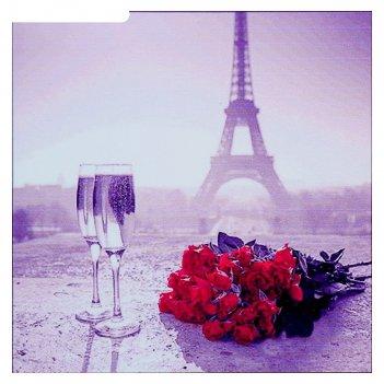 Алмазная мозаика свидание в париже 35 x 35 см, 30 цветов