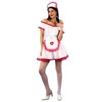 Карнавальный костюм медсестра, 4 предмета: платье, головной убор, пояс, по