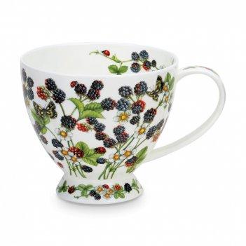 Чашка чайная «ежевика скай», объем: 450 мл, материал: костяной фарфор, дек