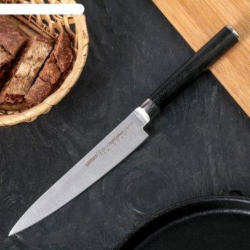 Нож кухонный samura pro-s универсальный, лезвие 15 cм, сталь aus-8