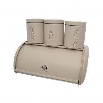 Хлебница с 3-мя банками для сыпучих продуктов royal classics кантри 48,5*3