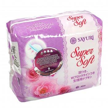 Гигиенические прокладки super soft, супер, 24 см, 9 шт