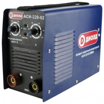 Сварочный аппарат диолд аси-220-02, инверторный, 8квт, 220а, 1.6-5 мм
