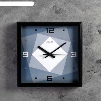 Часы настенные квадраты, серые