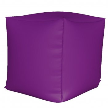 Пуфик куб мини, ткань нейлон, цвет сиреневый