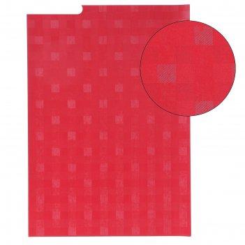 Бумага для творчества фактурная переплёт красный формат а4
