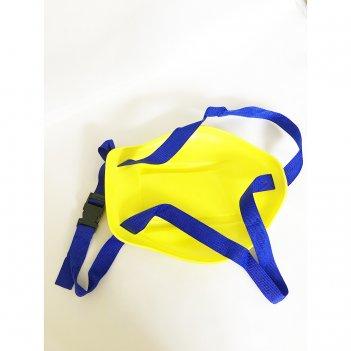 Санки-ледянки с ручкой-ремнем, привязываются к ребёнку, l-33 жёлтые