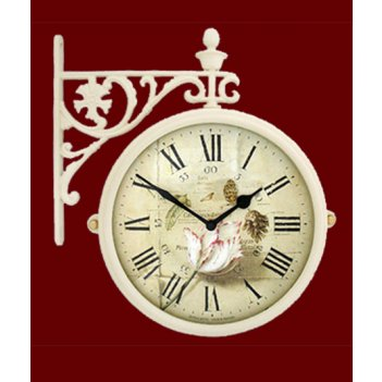 Часы настенные двусторонние на подвесе b&s м195 iv-f9