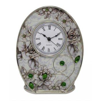Часы  jardin dete  благородный изумруд, сталь, стекло, 12,5 х