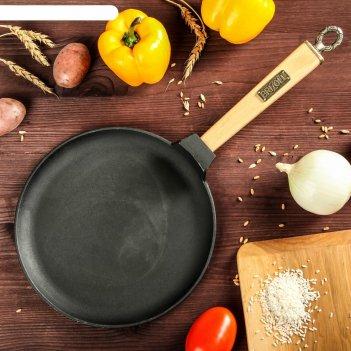 Сковорода чугунная блинная классик, 240 х 15 мм, тм brizoll