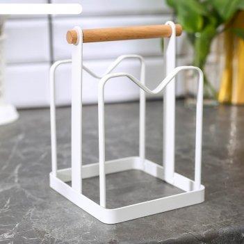 Держатель для кухонных принадлежностей 18,5х13,5х14 см, цвет белый