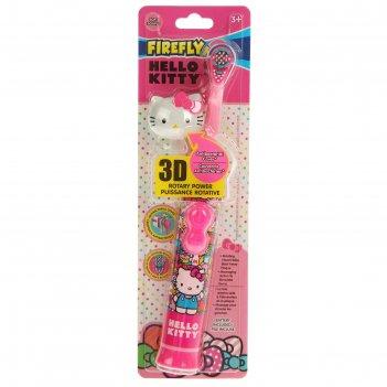 Электрическая детская зубная щетка hello kitty rotary toothbrush hk-21, 3d