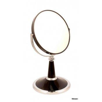 Зеркало b6 209 blk/c black настольное 2-стор. 5-кр.ув.15 см.