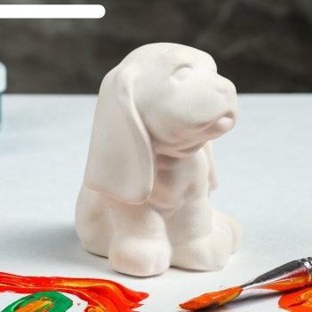 Фигурка-раскраска собачка ушастая